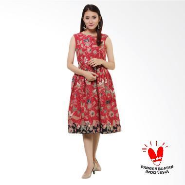 Benangsari Miranda Dress Batik Wanita - Marun