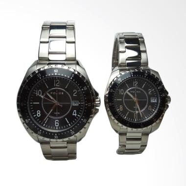 Police PL.13669MS/JS Stainless Steel Jam Tangan Couple - Silver