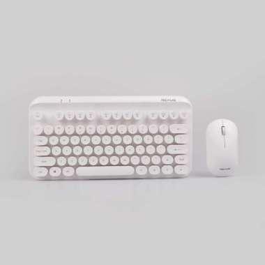 Rexus KM9 Combo Keyboard Mouse Wireless White