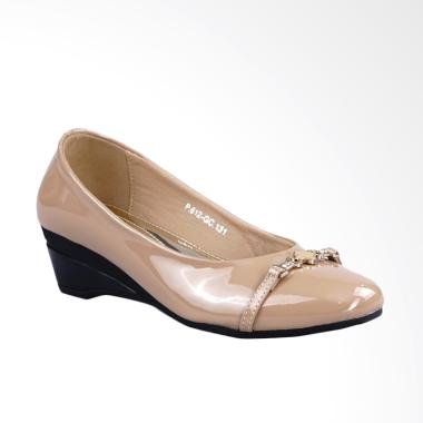 Ghirardelli Bryleigh Wedges Sepatu Wanita - Beige