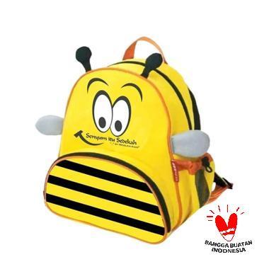 Moslem Kids Alibe Shop Bee Tas Sekolah Anak - Yellow