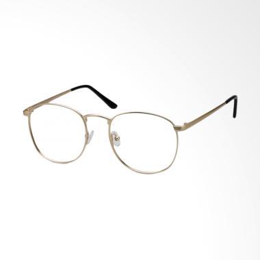 OEM Bulat Korea Lensa Transparent Kacamata - Gold OL127