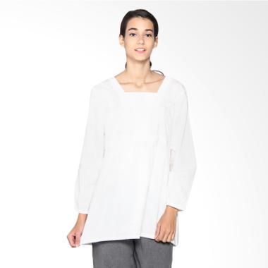 Mobile Power L8331 Brocade Combination Ladies Tunic - White