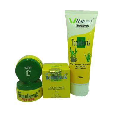 Temulawak Paket Cream Siang & Malam + Facial Foam