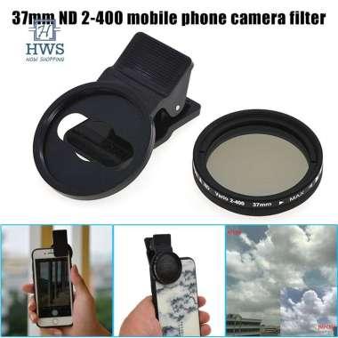 harga Adjustable 37mm Neutral Density Clips-on ND2-ND400 Phone Camera Filter Lens for Smartphone import Blibli.com