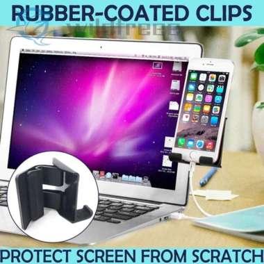 harga Klip Holder Layar Samping Ponsel Tablet Laptop Notebook Atau Desktop Monitor import Blibli.com