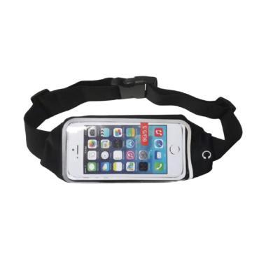Anylinx Zipper Touch Waterproof Sport Waist Belt for iPhone 6 - Black