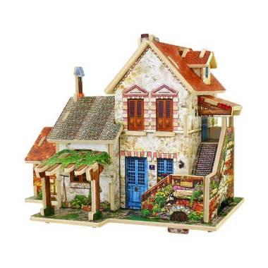 ROBOTIME F124 France Farm House Wooden Puzzle
