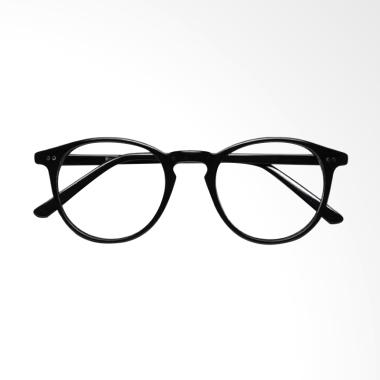OEM Lensa Transparent Kacamata Korea Frame Hitam MLD860