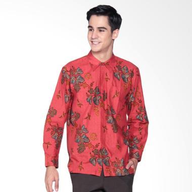 Danar Hadi Print Motif Lung Kukilo  ...  Batik Panjang Pria - Red