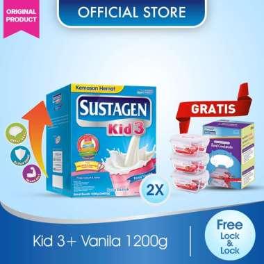 Buy 2 Sustagen Kid 3+ Vanilla Susu Formula [1200 g] + Free Food Container Lock & Lock