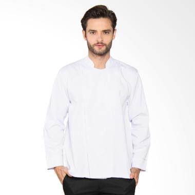 Chef Series Basic Tangan Panjang Baju Koki - Putih [Size XXL]