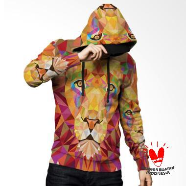 Fika Tema Lion 3D Full Print Sublim ... Jaket Hoodie Sweater Pria