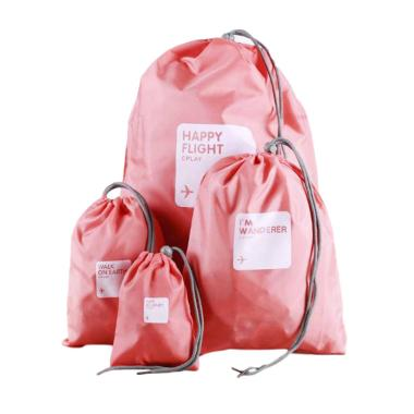 Happy Serut Set Tas Travel Serbaguna - Pink