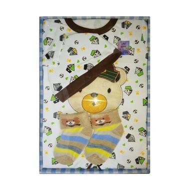 Mamimu Gift Set Pakaian Bayi Laki Laki - Coklat