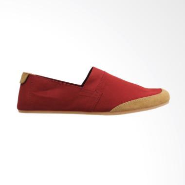 Minarno Canvas Slip-On Sepatu Pria - Maroon NB05
