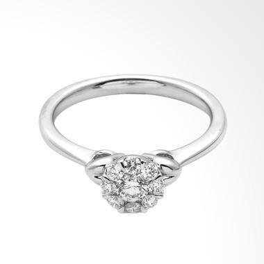 LINO P1704190003 Cincin Berlian Emas Putih [18K VVS]