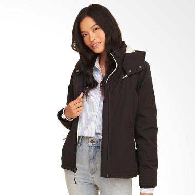 Hollister Fleece Jacket Wanita - Black