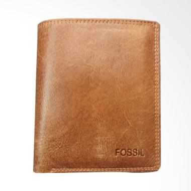 Fossil Full Leather Dompet Fashion Pria - Brown