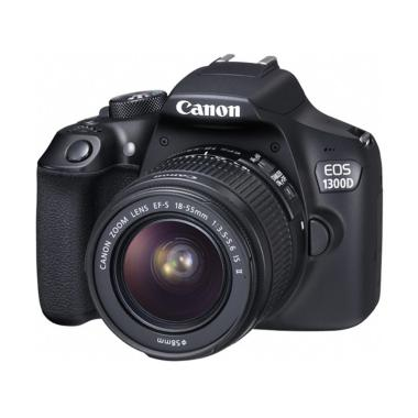 Canon EOS 1300D Kit 18-55mm IS II Kamera DSLR - Black [18 MP]