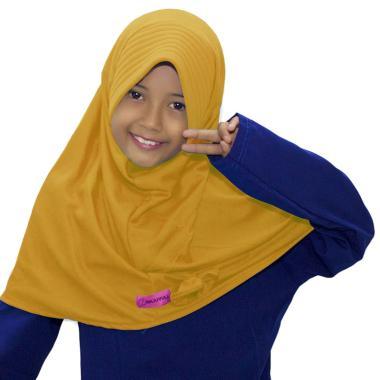 BajuYuli Kerudung Polos Pita Cantik Jilbab Anak - Kuning Golkar
