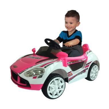 harga Ocean Toy Ride On PMB Mobil Aki M7688 Protege5 Mainan Anak - Pink Putih Blibli.com