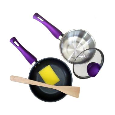Homecook Basic Value Kitchen Set Peralatan Memasak - Purple [3 pcs]