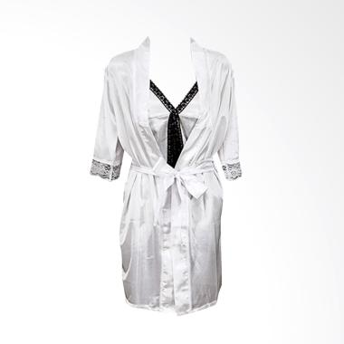 Deoclaus HRS For Bridal Shower Kimo ... ie Set Baju Tidur - White