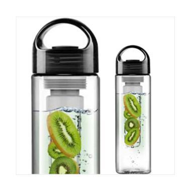 Tritan Bottle Generasi 1 BPA FREE with Fruit / Infused Bottle - Hitam