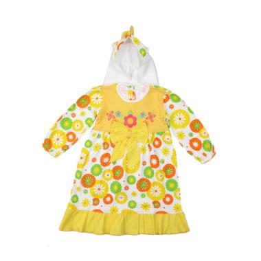 4 You Sunflower Moslem Dress Anak - Kuning