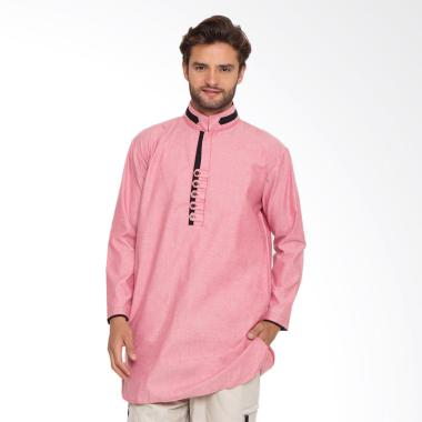 Zayidan Baju Muslim Gamis Yazid - Pink