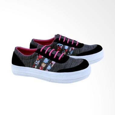 Garsel GK 6563 Sneakaer Sepatu Wanita - Hitam