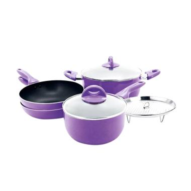 Supra Happy Cook Set Panci - Ungu [7 pcs]