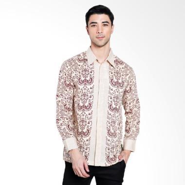 Batik Adikusuma Gurda Kemeja Batik Pria - Cokelat [422138067]