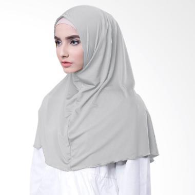 Najwa Kaos Katun TC Premium Jilbab Instan - Abu Muda