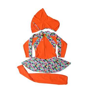 Rainy Collections Motif Segitiga Baju Renang Anak Muslim - Orange