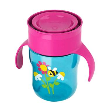 Philips Avent Grown Up Cup SCF782/20 Botol Minum 9M+ Bee - Blue Pink