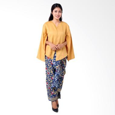 Batik Distro BA8773 Kaftan Setelan Pakaian Batik Wanita - Kuning