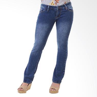 JSK Jeans JSK9133 Cutbray Bootcut S ... s Jeans Wanita - Biru Tua