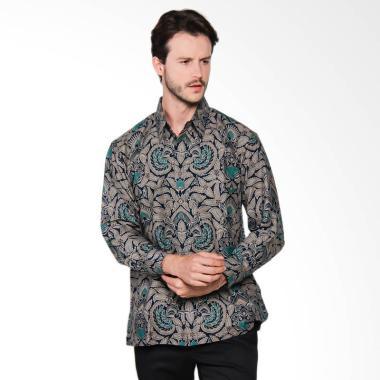 AWANA Modern Slim Fit Bayanaka Kemeja Batik Pria - Abu