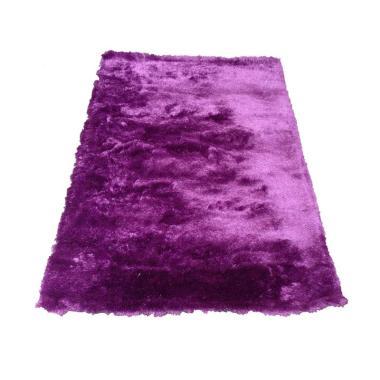 Tren-D-Rugs Karpet Shaggy Polos - Ungu [150 x 200 cm]