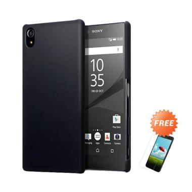new arrivals d92e2 b5f73 OEM Slim Hardcase Casing for Sony Xperia Z5 Premium E6853 5.5 Inch - Black  Matte + Free Tempered Glass