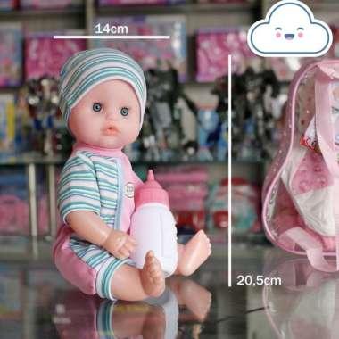 harga MAINAN ANAK PEREMPUAN BONEKA BISA PIPIS DAN BICARA CUTE BABY FACE DOT DAN POPOK Blibli.com