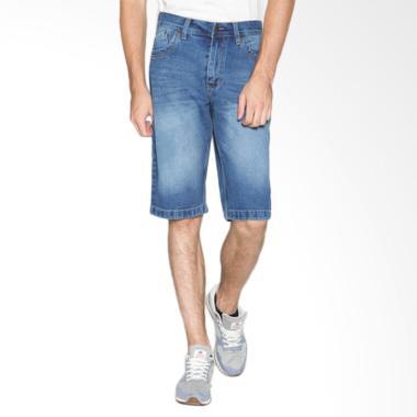 2Nd RED Denim FS Short Pants Celan Pendek Pria - Biru [151637]