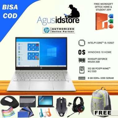 harga Laptop HP Pavilion Core i5-1135G7 8GB 512GB SSD MX450 WIN10 + OHS 14