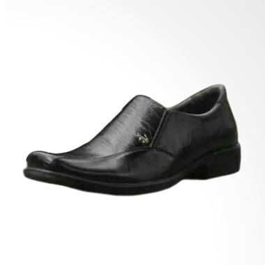 Crocodile 01 Pantofel Kulit Sepatu Pria - Hitam