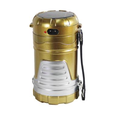 M2000 LED Flashlight Emergency Lamp Senter Multifungsi - Gold