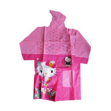 Rainy Collections Karakter Hello Kitty with Backpack Jas Hujan Anak