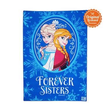 Frozen Valvet Carpet Winter Magic Large Alas Lantai - Blue