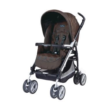 Peg Perego P3 Compact Classico Stroller - Pois Brown